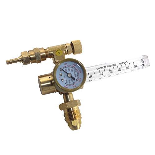 FLAMEER Gasregler 0 bis 4500 PSI Argon CO2 Durchflussmesser Schweißmessgerät Argon Regler -