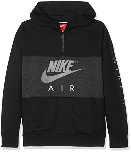 Nike Kinder B Nk Air Hoodie Hz Po Sweatshirt, Schwarz (Black/Anthracite/Black), S -