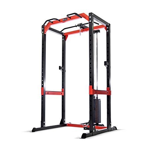 Bodymax CF475 Power Rack with Lat/Low Pulley and 95Kg Weight Stack