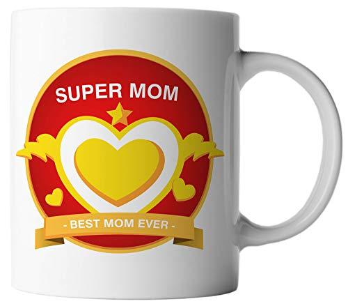 Ghostee tazza di caffè - super mom best mom ever - festa della mamma supereroe fulmine
