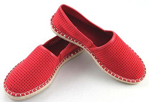 432bb32c3456 ... Armani Jeans Damenschuhe Espadrilles Canvas Shoe 925157 Geranie ...