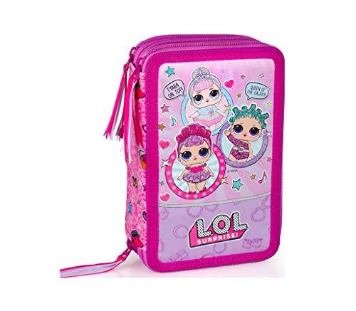 Kids4shop l.o.l surprise lol 44 x pezzi 3-fächer astuccio portapenne astuccio portapenne pieno