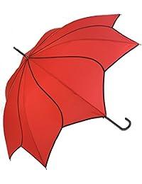 Rojo Swirl paraguas