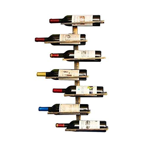 El estante solo, el vino no está incluido Característica Mide aproximadamente 38 cm L, 8,5 cm W, 69 cm H Diseño retro, guapo e intemporal. Cuatro filas, una botella de profundidad. Crea una asombrosa pantalla visual para su vino. Se monta en casi cua...