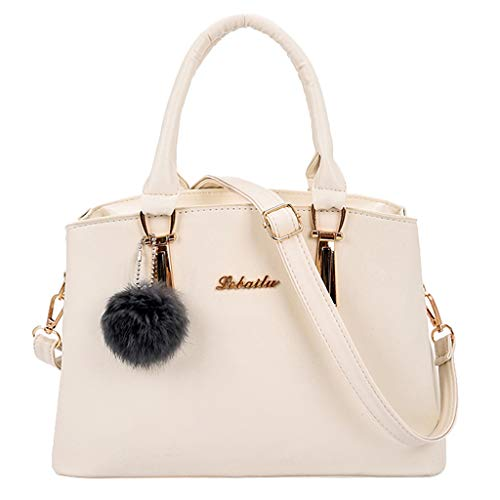 Bfmyxgs Mother es Day Fashion Women Solid Color Hairball Crossbody Bag Shoulder Bag Hand Bag Tote Totes Handtasche Shoulder Bag Bag Taschenpack Coin Bag. Brustpaket