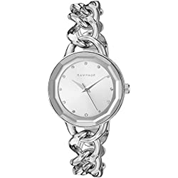 Rampage Women's 'Bracelet Band' Quartz Metal and Alloy Automatic Watch, Color:Silver-Toned (Model: RP1032SL)