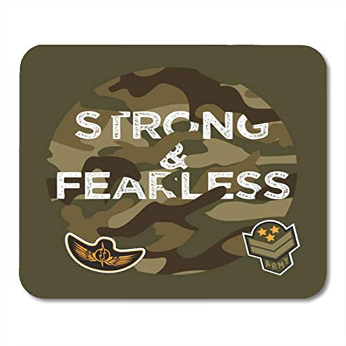 5d214c970431 AOCCK Tapis de Souris Gaming Mouse Pad Military Slogan College Army Badge  Pin Patch Soldier 11.8
