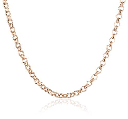 Engelsrufer Erbskette Rosévergoldet 925er-Sterlingsilber Stärke 2,1 mm Länge 45 cm
