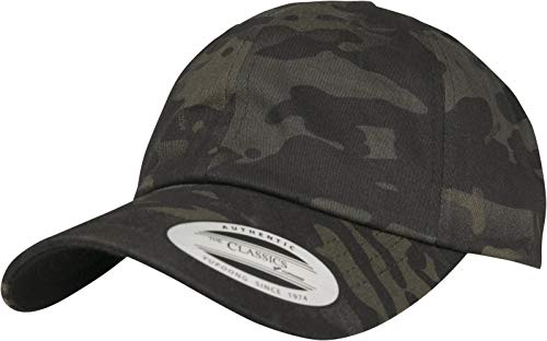 Flexfit Low Profile Cotton Twill Multicam Cap, Black, one Size