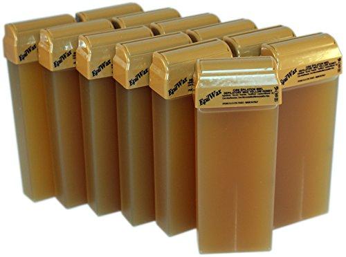 epilwax-sas-lot-de-12-roll-on-de-cire-jetable-miel-pour-pilation-avec-roulette-grand-modle-pour-les-