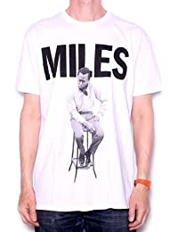 Miles Davis T Shirt - Stool Portrait Miles Design 100% Officially Licensed Columbia Records