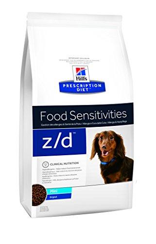 Hill' s prescrizione Diet Canine Z/D Piccola Race Gestione delle allergie & Salute della Pelle Cibo per Cani crocchette 1,5kg