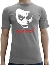 Joker–Why So Serious? Camiseta entallada (Tallas S–XXL), varios colores Gris gris Talla:large