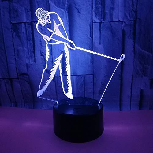 7 farbwechsel nachtlichter neuheit illusion spielen golf nachtlampe usb kabel geburtstag weihnachten party geschenk ()