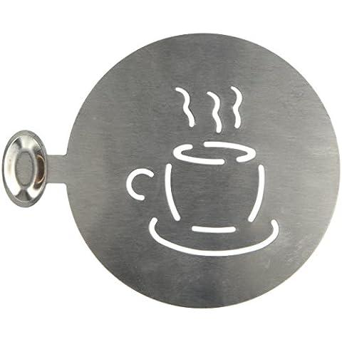 Genware nev-cs2plantilla, diseño de taza de café, acero inoxidable