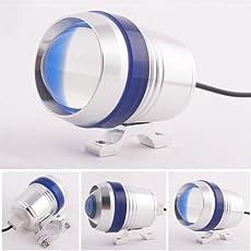 Delhi Traderss Motorcycle U3 LED Light Fog Spot Light Lamp Angle Eye 30W for Royal Enfield Bullet 500 (1 Pc)