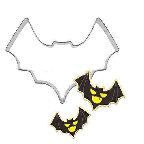 Lalang Halloween Batman-Form DIY Cookies Fondant Puzzle Form Ausstechformen Deko Kuchen verziert Fondant Schneider Werkzeug (Halloween Batman)