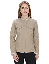 MansiCollections Full Sleeve Embellished for Women's Jacket