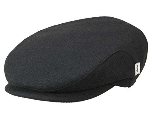 Wigens Christer Melton Flatcap mit Ohrenklappen aus Wolle - Schwarz (999) - 62 cm