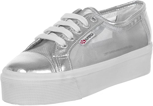 Superga 2790 Netw, Sneakers basses mixte adulte Argenté