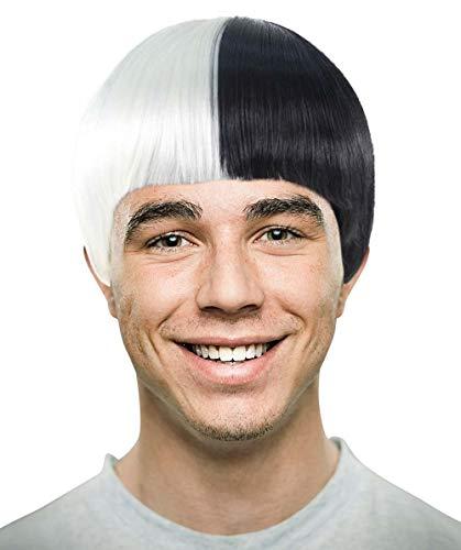 ian Singer Black & White für Männer Popstar Charakter Cosplay Halloween Perücke (KIDS) HM-062 ()