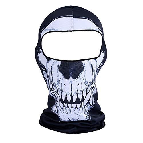 ZKOOO Unisex Gesichtsmaske 3D Tier Aktive Kopfhaube Im Freien Motorrad Fahrrad Hals Kopfwärmer Winddicht Atmungsaktiv Balaclava Sturmhaube Für Damen Herren