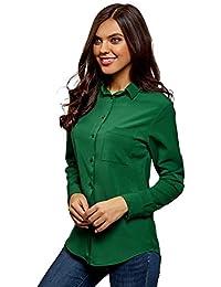 bdca2546f Amazon.es  camisa verde mujer - Blusas y camisas   Camisetas