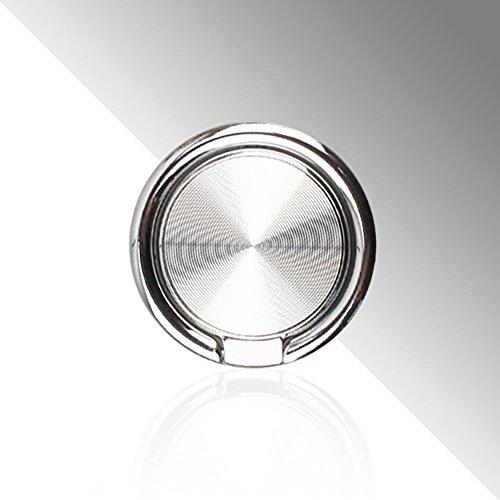 Anello pigro a forma di anello a forma di goccia, anello di presa con anello per il polso stent universale per smartphone attaccabile a magnetico supporto per auto rotazione a 360 ° flip a 180 ° (argento)