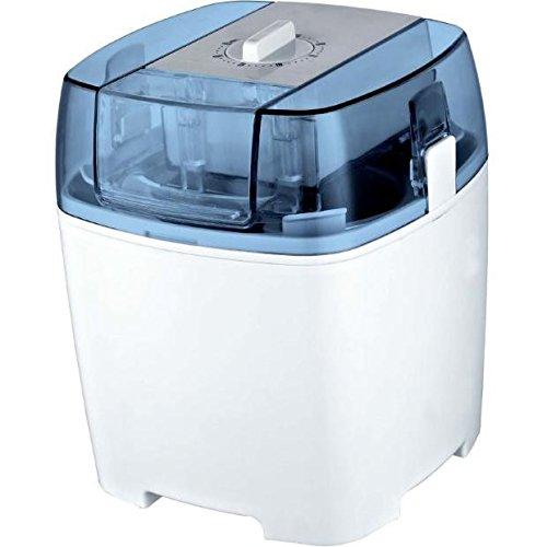 Gino Gelati IC-30W-A 4in1 Eismaschine, Frozen Jogurt-Milchshake Maschine Flaschenkühler