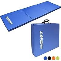 Mirafit Tapis d'Exercice Pliable - Pour les Séances d'Entraînement/Yoga/Pilâtes - Choix de Couleurs