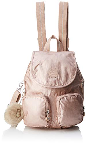 Kipling Damen FIREFLY UP Rucksack, Gold (Metallic Blush), 22x31x14 cm