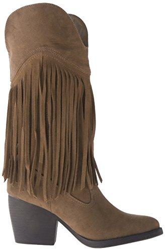 Madden Girl Ranglee Boot Western Chestnut Microsuede