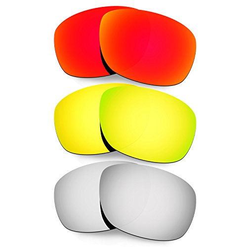 Hkuco Plus Mens Replacement Lenses For Oakley Ten X - 3 pair