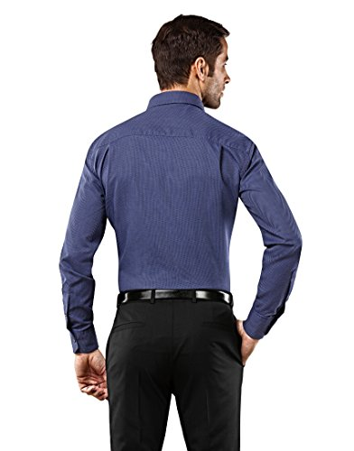 d82152e5c785 Vincenzo Boretti Herren-Hemd Bügelfrei 100% Baumwolle Slim-Fit Tailliert  Gemustert New- ...