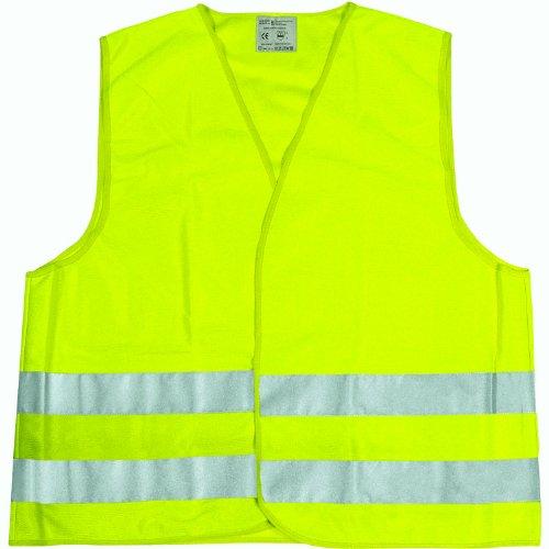 Cartrend 50130 Chaleco reflectante de averías amarillo tamaño L, DIN...