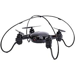DWI X21 Mini RC Drone Wifi FPV Drone 360 ° Flips y rollos, Barómetro Altitude Hold, Modo de detección de gravedad, Una llave de retorno automático, 2.4 GHz Gyro 6-Axis con 0.3MP Cámara Drone -Negro