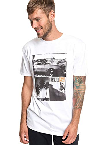 8f05f80a1a77 Quiksilver Surf Vibes T-Shirt Homme Blanc FR (Taille Fabricant   XL)