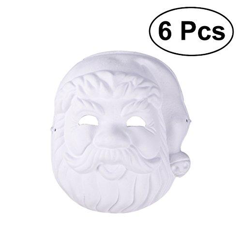 OULII 6 stück Santa Claus masken Weißen Maske -