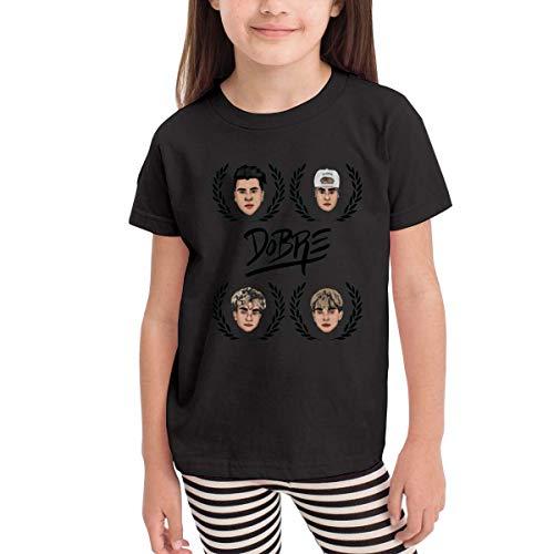 Kinder Jungen Mädchen Shirts Dobre Brothers T Shirt Kurzarm T-Shirt Für Kleinkind Jungen Mädchen Baumwolle Sommer Schwarz 4 T -