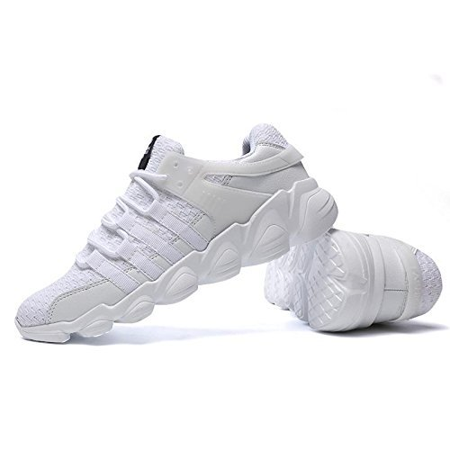 XBXB Sportschuhe Herren Laufschuhe Atmungsaktiv Leichtes 3D Weben Sneaker Laufschuhe für Fitness 39-46