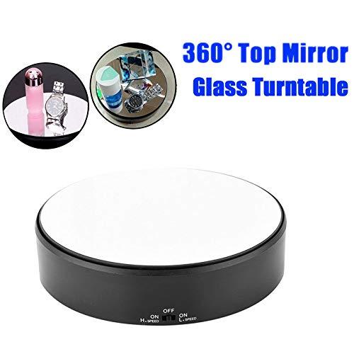 yangGradel Rotary Jewlery Display Stand Spiegelglas 360 Swivel Watch Halter Plattenspieler für Halskette Armband