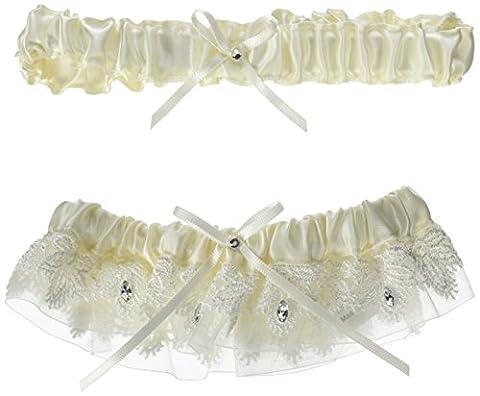 Ivory Sparkling Elegance Garter Set