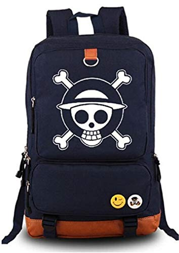 Cosstars Anime One Piece Luminoso Mochilas de a Diario Backpack Bolso