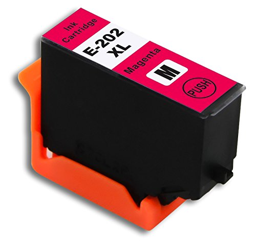 1 x The Ink Squid Compatible Epson 202 XL Magenta Ink Cartridge Replacement  for Epson XP-6000 and XP-6005 Printers