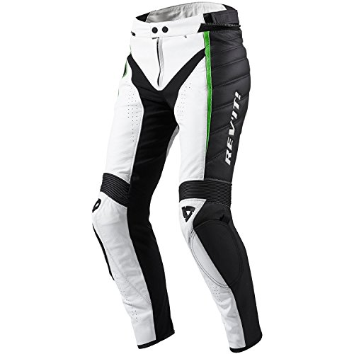 fpl028 - 3453-l40 - Rev It Xena Ladies moto pantaloni Lady 40 white-acid Verde Lungo (UK 12)