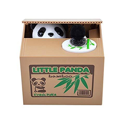 Juguete de Decoración eléctrica Mignon Panda Hucha esquinas Cents Penny Buck olla ahorrador de plata Hucha