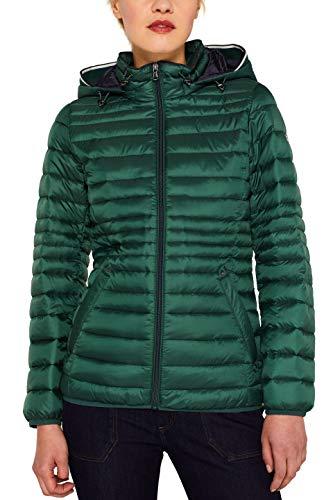 ESPRIT Damen 079Ee1G001 Jacke, Grün (Bottle Green 385), Large (Herstellergröße: L)