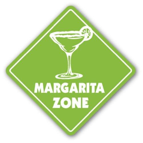 Funny Sign Geschenk Margarita Zone Sign Neuheit Cocktails Bar Getränke Dacquiri Outdoor Metall Aluminium Schild, Dekoration