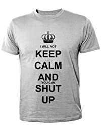 Mister Merchandise Homme Cool Fun T-Shirt Chemise Tee Keep Calm and Shut Up!