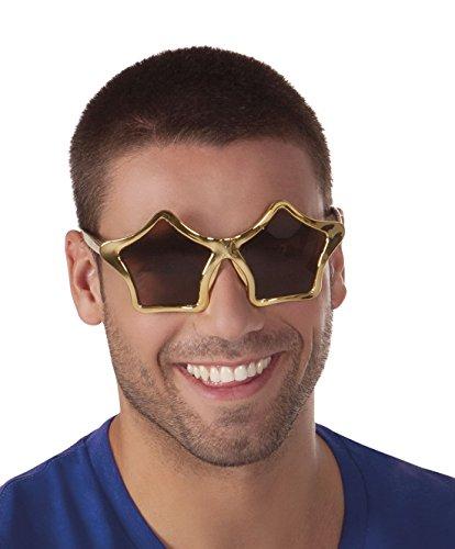 erdbeerclown - Oversize Star Sternen Sonnenbrille, (Achtziger Sonnenbrille Jahre)